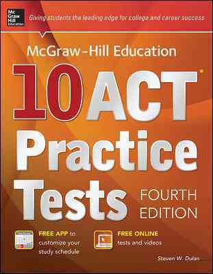 Mcgraw-hill Education 10 Act Practice Tests By Dulan, Steven